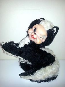 RARE Vintage Rushton Star Creations Plush Stuffed Winking Skunk Rubber Face | eBay