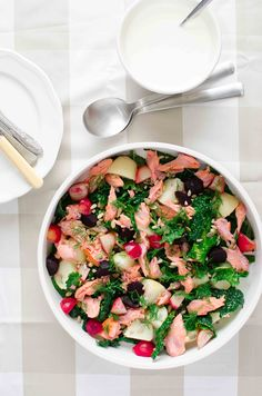 smoked trout and winter veg salad