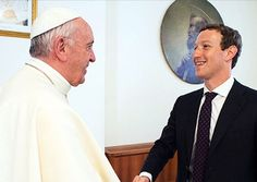 "WHAT ARE THEY UP TO? Using a title stolen from God, the ""holy father"" held a meeting today with Facebook founder Mark Zuckerberg. It's rather odd why a person like Pope Francis, who claims to be technologically ignorant, has such a strong desire to meet with all the world's top technology people. What do you suppose he's assembling? Hmm... http://www.nowtheendbegins.com/mark-zuckerberg-meets-pope-francis-vatican-gives-facebook-drone/"