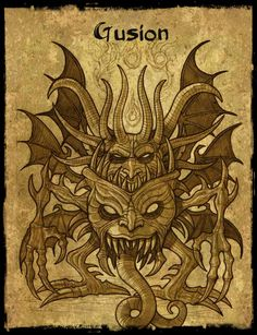 The demon Gusion - © 2008 - Sylvain Dousset - smilingdemon.com