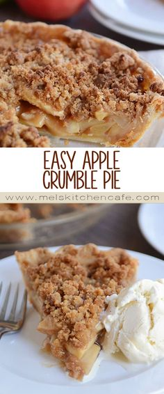 This easy apple crumble pie has all the gloriousness of classic apple pie with the added gift of a buttery, streusely, crumbly topping that is so yummy, you'll cry.
