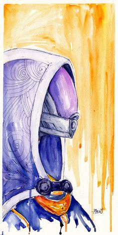 """""""Tali: After time adrift among open stars, along tides of light and through shoals of dust, I will return to where I began. Tali: After time adrift among open stars,. Mass Effect Poster, Mass Effect Games, Mass Effect 1, Mass Effect Universe, Commander Shepard, Video Game Characters, Art Drawings Sketches, Dragon Age, Watercolor And Ink"""