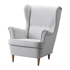IKEA furniture and home accessories are practical, well designed and affordable. Here you can find your local IKEA website and more about the IKEA business idea. Chaise Ikea, Ikea Chair, Fabric Armchairs, Fabric Sofa, Wingback Chairs, Küchen Design Ikea, Ikea Pouf, Strandmon Ikea, Living Room Furniture