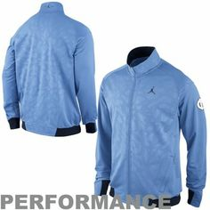 Nike North Carolina Tar Heels (UNC) Jordan Game Full Zip Performance Jacket - Carolina Blue size xl