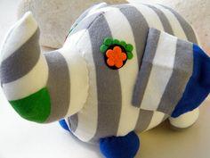 Free Shipping Handmade Elephant Socks Stuffed Toy by RageRabbit