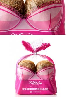 Pink ribbon bread. I would buy it.  So clever done.
