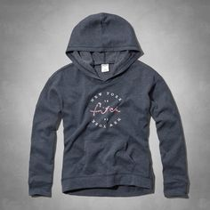 supersoft lightweight fleece with a cozy hood, front pocket and logo graphic at front, vintage abercrombie wash, classic fit, imported<br><br>60% cotton / 40% polyester