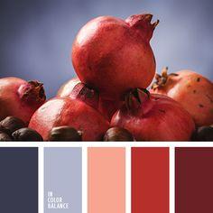 burdeos y rojo, color granate, color rojo naranja, colores contrastantes, colores de la granada, el color granate, gris violeta, matices de color granate, matices de color violeta grisáceo, rojo y burdeos, rojo y violeta grisáceo, tonos rojos, violeta grisáceo.