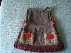 Overol para niñas tejido a crochet