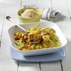 Puten-Curry-Gulasch mit Reis Rezept | LECKER