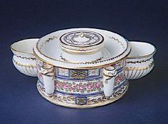 Porcelain Inkwell, 1780, France, Sevres