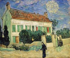 Art of the Day: Van Gogh, The White House at Night, June 1890. Oil on canvas, 59.5 x 73.0 cm. State Hermitage Museum, St. Petersburg.