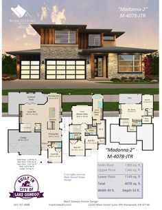 Marvelous Home Design Architectural Drawing Ideas. Spectacular Home Design Architectural Drawing Ideas. Modern House Floor Plans, Contemporary House Plans, Dream House Plans, Modern House Design, Prairie House, Luxury Homes Dream Houses, House Blueprints, Craftsman House Plans, House Layouts