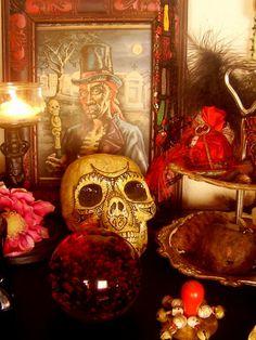 Voodoo Altar To Baron Samedi Baron Samedi, New Orleans Voodoo, Marie Laveau, Voodoo Hoodoo, Religion, Gods And Goddesses, The Conjuring, Black Magic, Deities