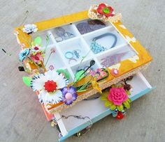 Altered Jewelry Box, Ruby Violet