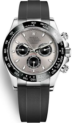 Purchase brand new Rolex Oyster Perpetual Cosmograph Daytona White Gold Diamond Black Dial Rubber Strap 40 mm Mens Watch Rolex Daytona Price, Rolex Daytona Watch, Rolex Cosmograph Daytona, Rolex Watches For Men, Luxury Watches For Men, Cool Watches, Dream Watches, Amazing Watches, Beautiful Watches