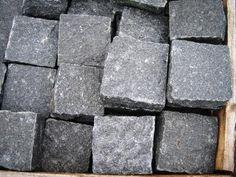 Black granite setts, new.