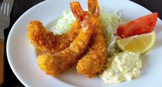 Fried prawn (海老フライ or エビフライ ebi furai) is a deep fried cuisine popular in Japan as well as Japanese restaurants worldwide. It is a speciality of the city of Nagoya.