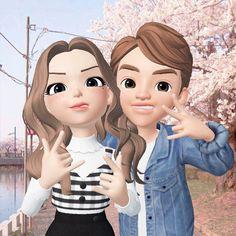 Cute Couple Drawings, Bff Drawings, Cute Couple Art, Cute Couples, Buddha Wallpaper Iphone, Emoji Wallpaper, Wallpaper Iphone Cute, Cute Cartoon Pictures, Cute Love Cartoons