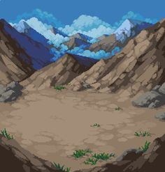 """Lu Nascimento on Twitter: """"Had fun making a mountain background for a project https://t.co/4FUBucPb3A"""""""