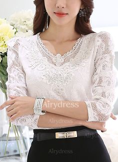 T-shirts - $12.87 - Cotton Solid Round Neck 3/4 Sleeves Casual T-shirts & Vests (1685132826)