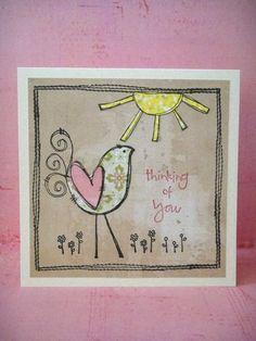 Donna Mikasa - Thinking of You Bird Card