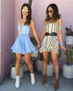 Having the best time at #coachella with my love @songofstyle  (more on snap) We are both in @revolve dresses! #revolvefestival ------ Me divertindo muito no Coachella com minha querida Aimee!!! (Veja no snap) Nossos vestidos são @revolve !