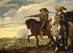 Prince Frederik Hendrik and Count Ernst Casimir at the siege of 's-Hertogenbosch (1629), 1630, by Paulus van Hillegaert. (JPEG Image, 1280×940 pixels) - Scaled (59%)