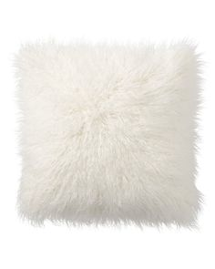 Hello fluffy white Mongolian dreamy fur pillow! Pillow arrives ready to party with a moldable poly insert for a natural look. Add texture and whimsy to you home with this elegant cushion that never goes of of style. - Dimensions: 18 x 18 - Color: light white snow white cloud white - Imported - From: 8 Oak Lane - Shape: Square - Texture: Soft, Fluffy, Furry