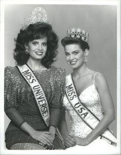 Cecilia Bolocco, Miss Universe 1987 and Lu Parker, Miss USA 1987.