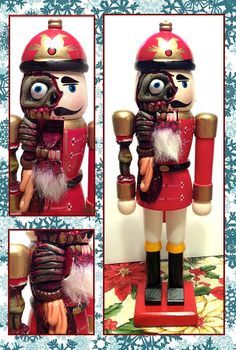 Nothing is safe in this house. Look at this nutcracking nightmare on the mantel!   Community Post: 12 Decorations To Have Yourself A Creepy Little Christmas