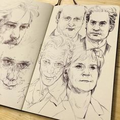 Actors and politicians. Hard to not caricature too much. #drawing #illustration