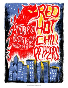 Red Hot Chili Peppers Houston Texas Poster