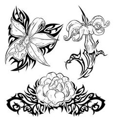 Flower Tattoo Designs and Black And White Gardenia Tattoo Flower Tattoo Drawings, Flower Tattoo Designs, Flower Tattoos, Sketch Tattoo, Tattoo Designs And Meanings, Tattoos With Meaning, Gardenia Tattoo, Zentangle, Stencils