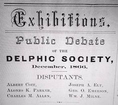 Delphic Fraternity - Gamma Sigma Tau - Delphic Society - Delphic Fraternity - Gamma Sigma Tau, a historic multicultural fraternity founded in Geneseo, New York in 1871 and re-established in New Paltz, NY in Emerson, Sigma Tau, Fraternity, York