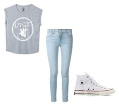 """""""Untitled #64"""" by bluepeacesign on Polyvore featuring Frame Denim and Converse"""