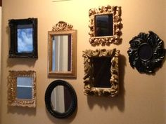 maddiejhomedecor paint your mirrors and create a mirrored wall!