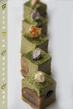 Japanese sweets / 抹茶チーズケーキ/Cheesecake   #plating #presentation