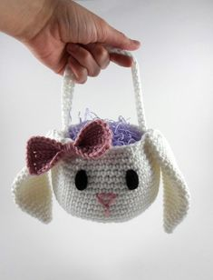 Easter Bunny Basket Crochet by maura