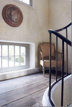 Stair Landing: Low window