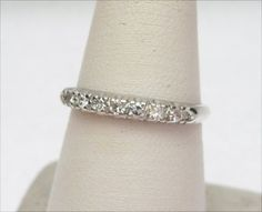 14k 15pts Diamond Wedding Band by KlinesJewelry on Etsy