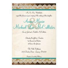 Discount DealsRustic Lace Customizable Colors Wedding InviteThis site is will advise you where to buy