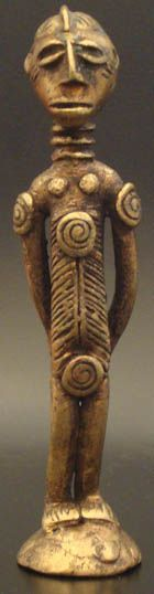 African Tribal Art, Ashanti Male #524 | Figures | Metal — Deco Art Africa - Decorative African Art - Ethnic Tribal Art - Art Deco