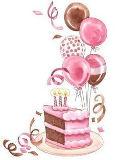 Slice Of Cake Clip Art | 42783-Clipart-Illustration-Of-A-Slice-Of-Birthday-Cake-With-Balloons ...