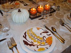 Decorative Dishes - 15 Stylish Thanksgiving Table Settings on HGTV