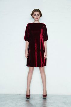Velvet Crush Dress/ GIrls Velvet Dress/ Woman's Velvet Dress on Etsy, $75.00