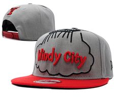 NBA New Era x Windy City Chicago Bulls Snapbacks Hats Gray/Red 807 8787! Only $8.90USD