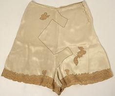 Panties Date: 1926 Culture: probably French Medium: silk, cotton Accession Number: 1975.338.3