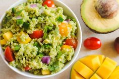 Pin for Later: 26 Recipes Starring Quinoa, the Little Pseudograin That Could Guacamole Quinoa With Mango Spicy, fruity, and fresh, guacamole quinoa is like a lunch-friendly spin on chips and guac.
