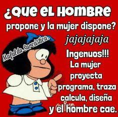 Imagen relacionada Spanish Phrases, Spanish Humor, Spanish Quotes, Mafalda Quotes, Funny Phrases, Morning Messages, Good Advice, Best Quotes, Laughter